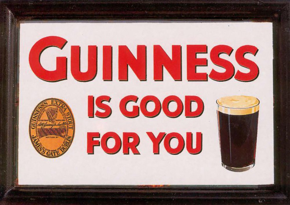 advertisement for guinness