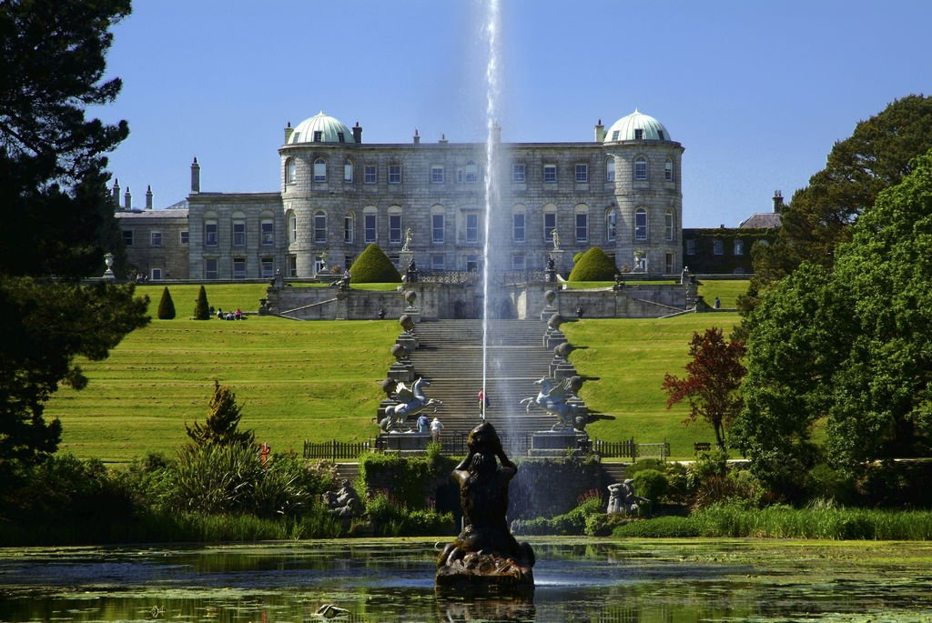 Powerscourt view on a sunny day - County Wicklow tours